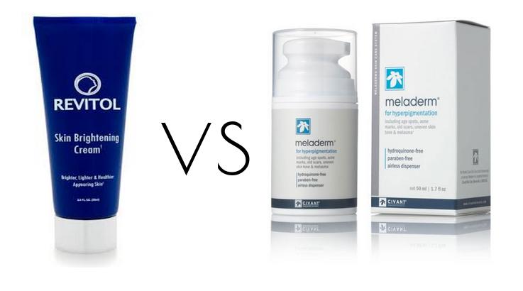 revitol skin brightener vs meladerm
