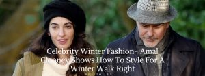 Amal Clooney winter fashion