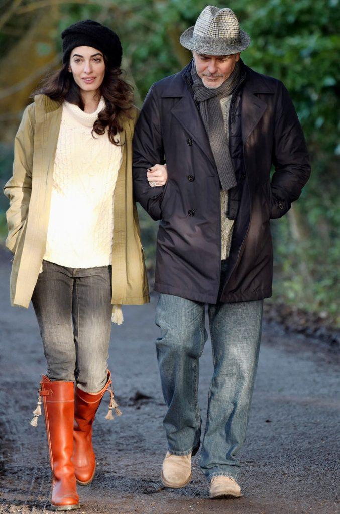 Amal Clooney's winter fashion